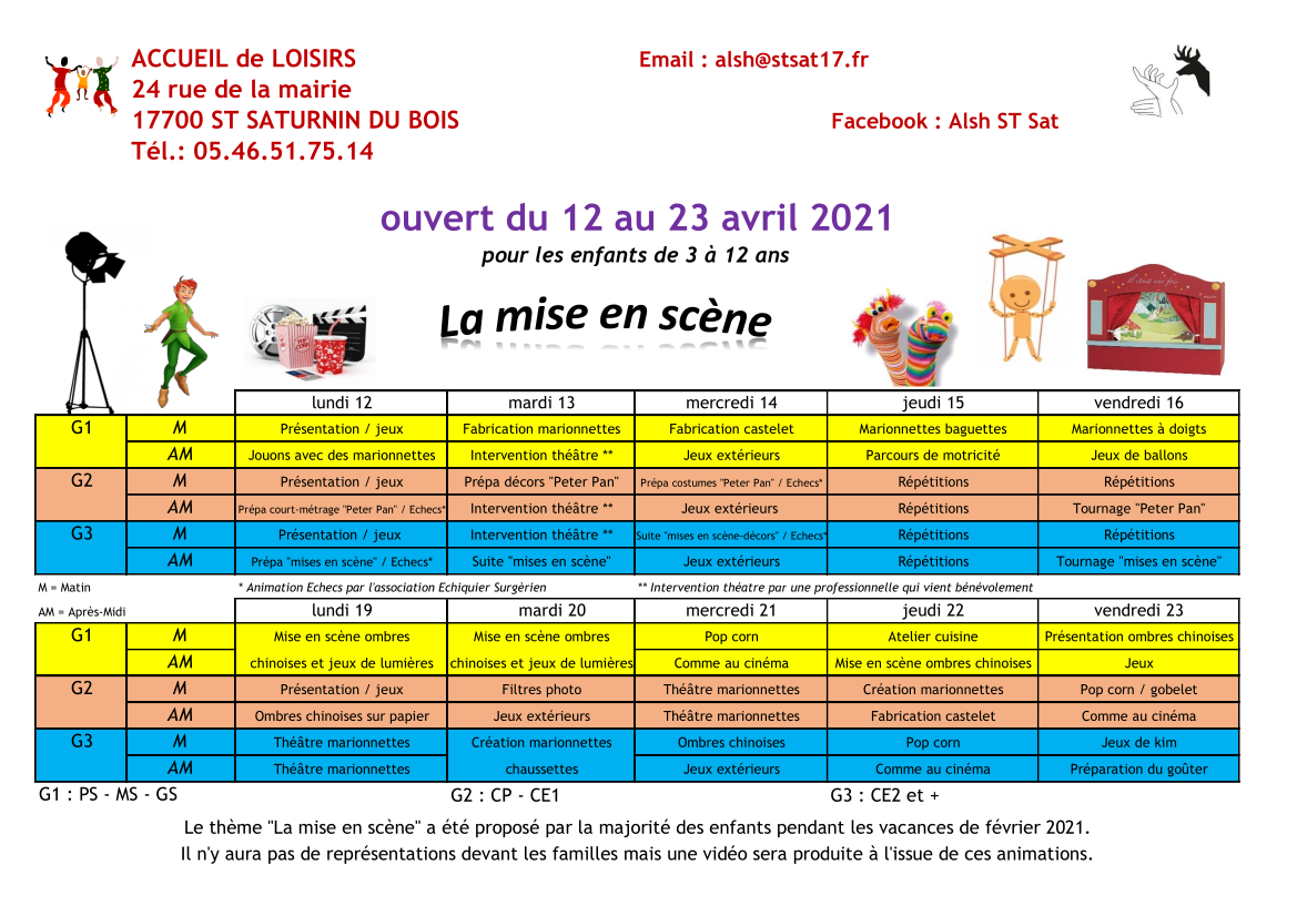 You are currently viewing ALSH – vacances scolaires de AVRIL 2021