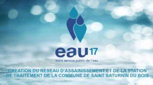 Read more about the article Présentation de la création du réseau d'assainissement