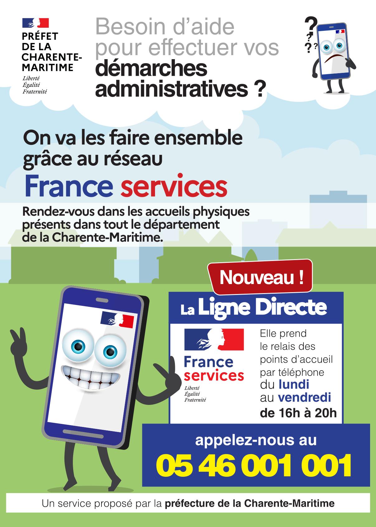 Plateforme téléphonique Ligne Directe France Service